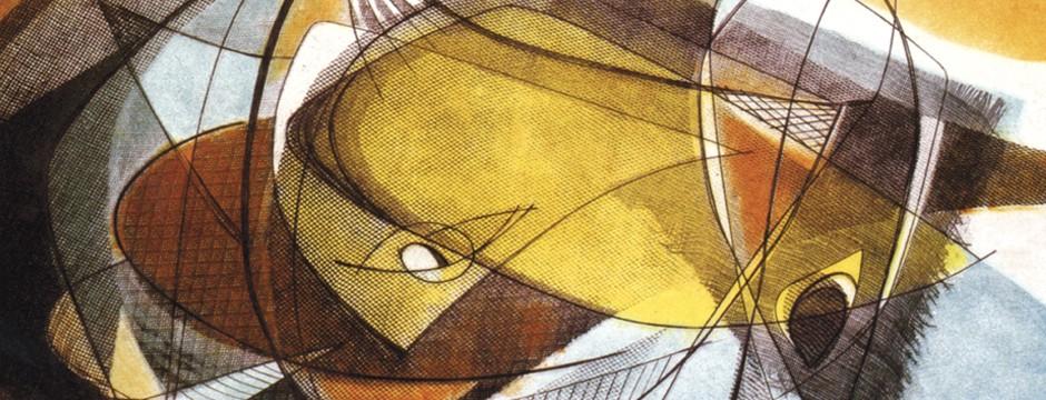 Yellow fishing net Engraving Softground 1957