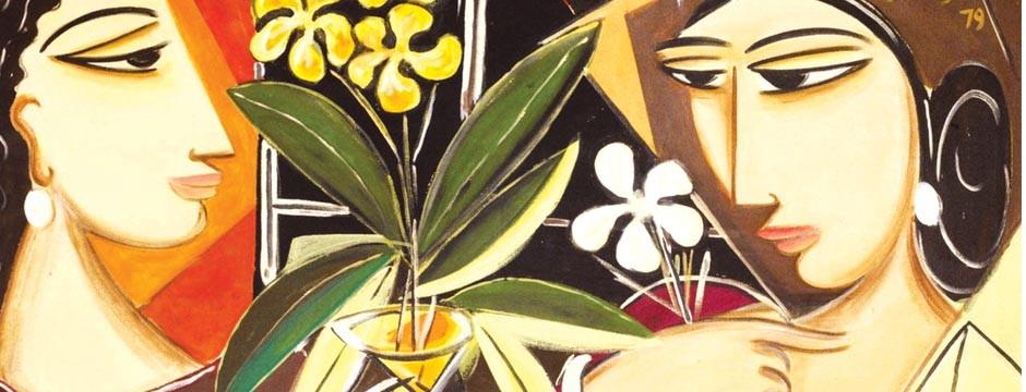 Bandhu Canvase Acrilic, 1979